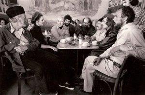 (wikipedia.org - wikicommons)  Beats at Coffee Shop, New York City