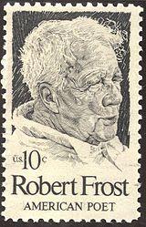 Robert Frost Poet Stamp